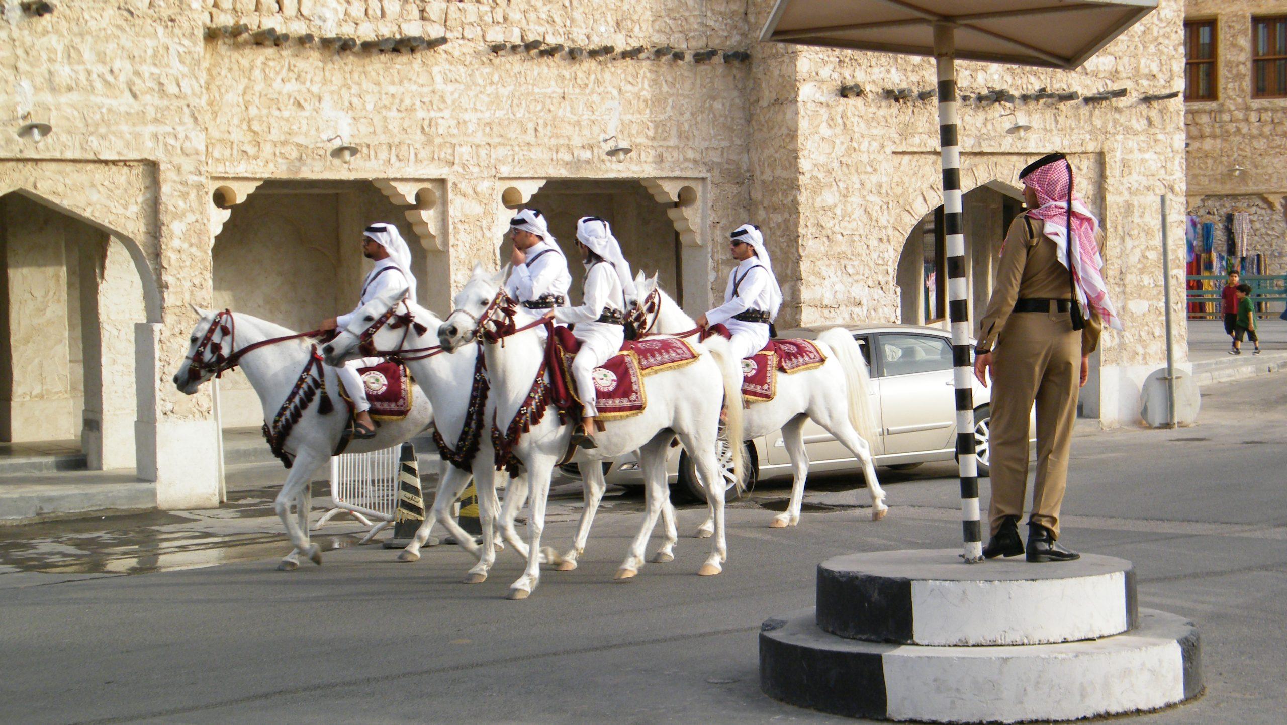 Beredent politi i Qatars hovedstad, Doha. Qatars nationale turistråd vil øge landets synlighed på det nordiske marked. Arkivfoto: Henrik Baumgarten.