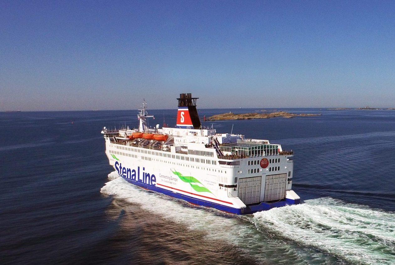 Stena Danica på vej mod Danmark. Stena Line har to ruter fra Sverige til Danmark; fra Gøteborg til Frederikshavn samt fra Halmstad til Grenaa. Pressefoto fra Stena Line.