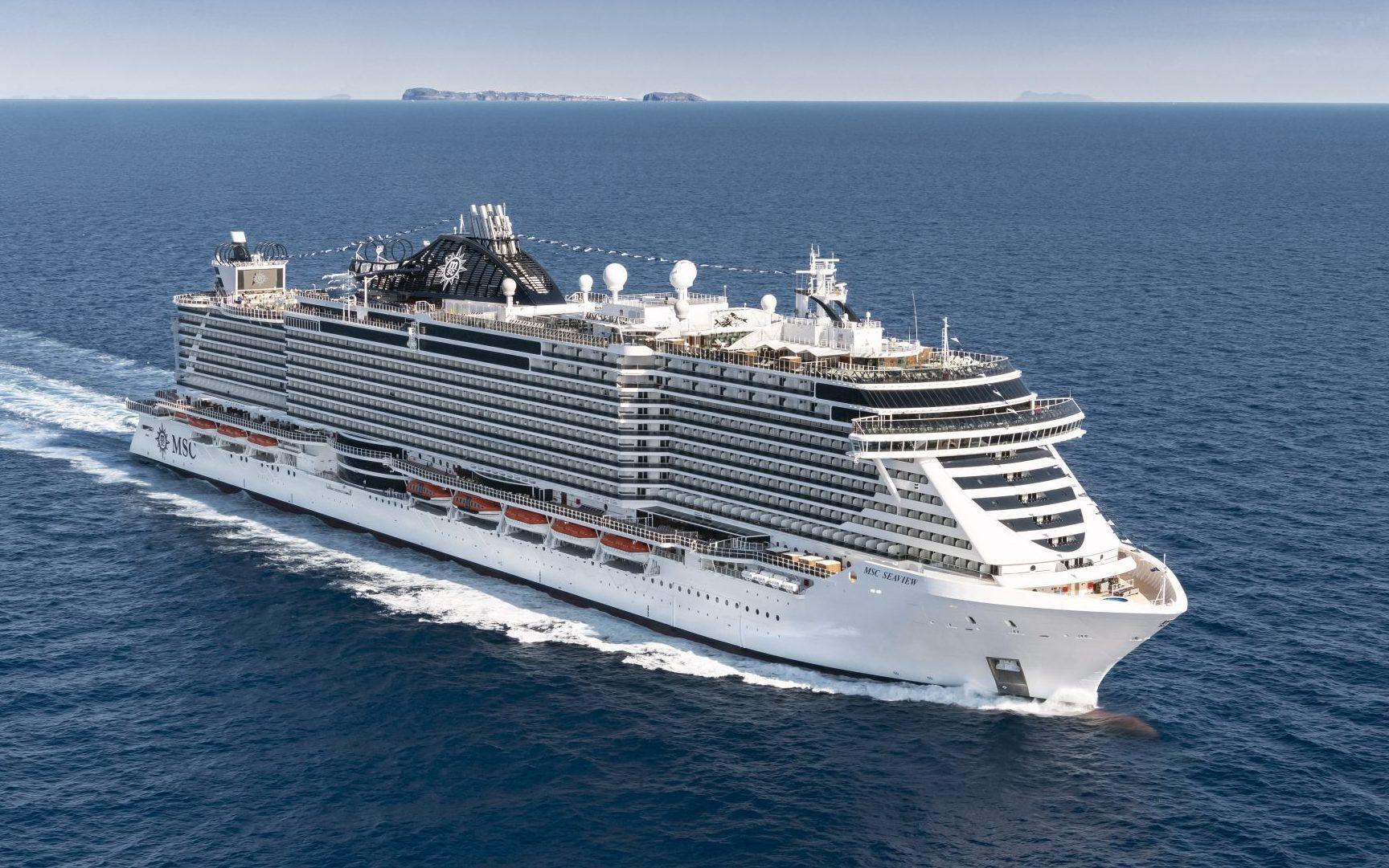 Næsten alle havne i Østersøregionen er lukkede for krydstogtskibe. Men Sverige og Estland giver nu mulighed for at MSC Seaview fra juli kan sejle krydstogter ud af Kiel til Sverige og Estland. PR-foto fra MSC Cruises.
