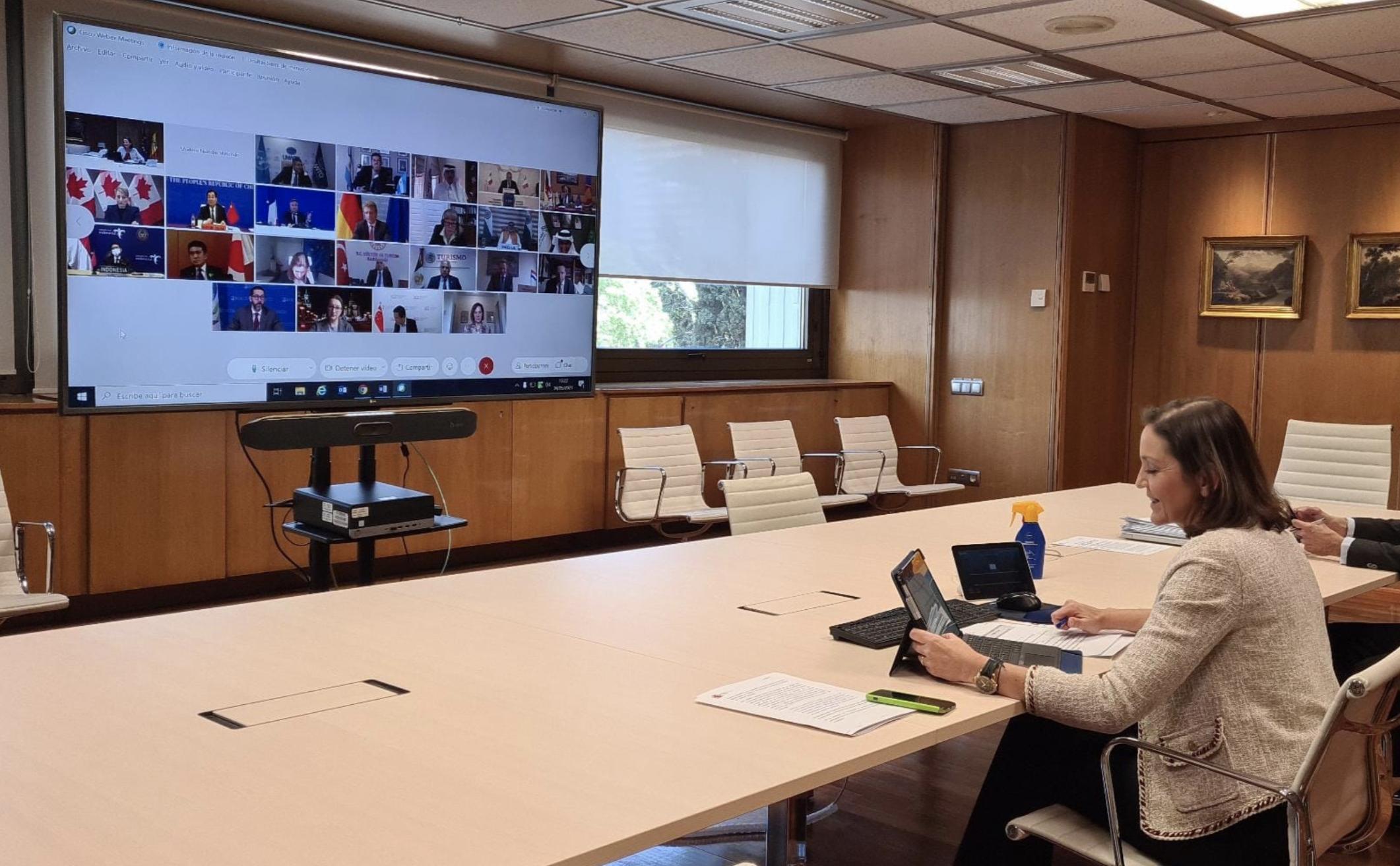 Den spanske minister for blandt andet turisme, Reyes Maroto, drøfter tiltag ved virtuelt møde i denne uge med G20-landenes turistministre. Foto via Den Spanske Stats Turistbureau i Danmark.