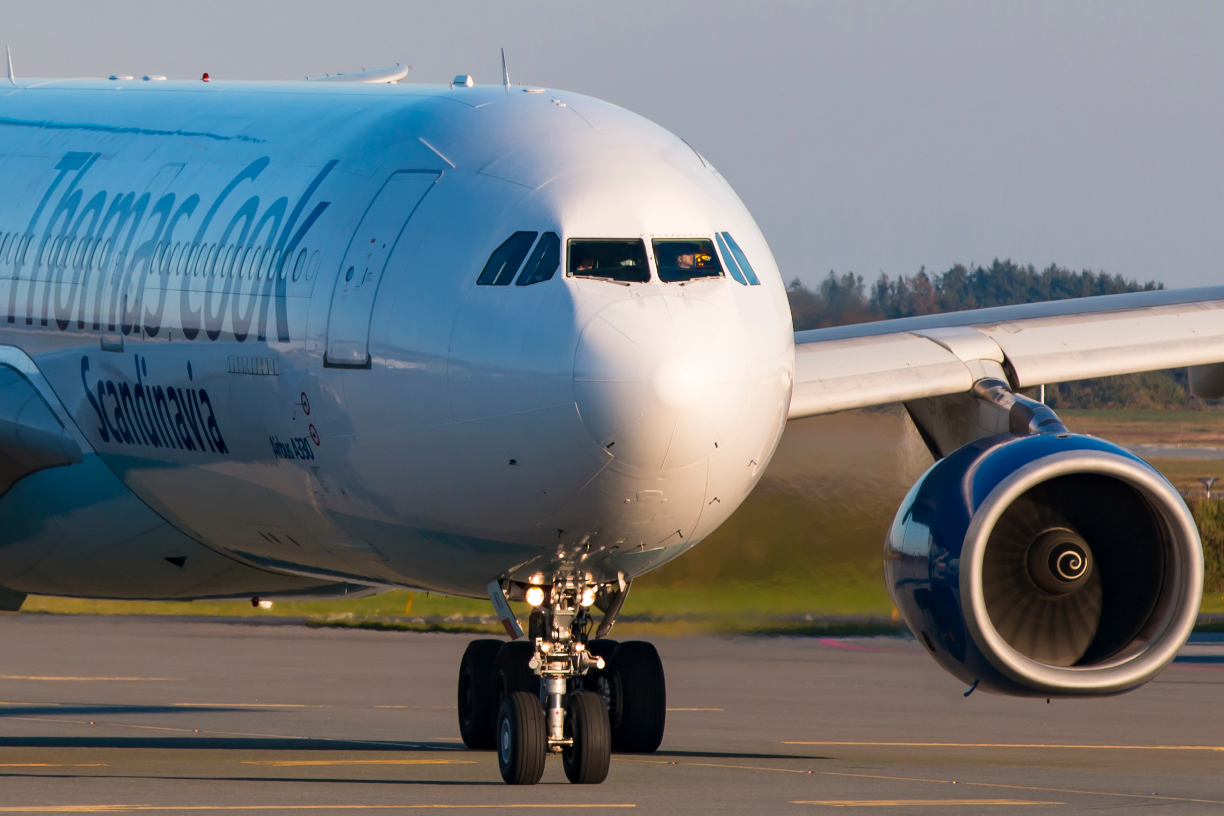 Sunclass Airlines, det tidligere Thomas Cook Airlines, stationerer gennem højsæsonen sin store Airbus A330-300 i Danmark. Arkivfoto: © Thorbjørn Brunander Sund, Danish Aviation Photo.