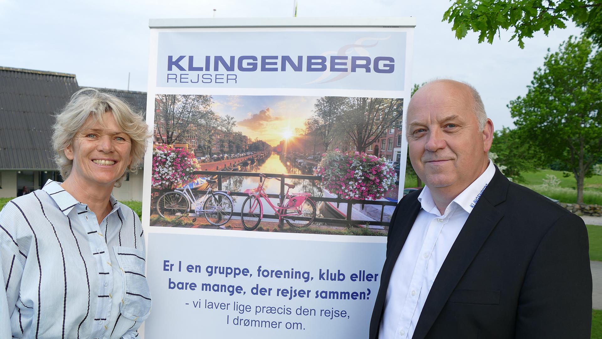 Heidi Maak Glinvad, administrerende direktør for Vitus Rejser, med Peter Nygaard, den afgåede direktør for Klingenberg Rejser, der nu overtages af Vitus Rejser. PR-foto.