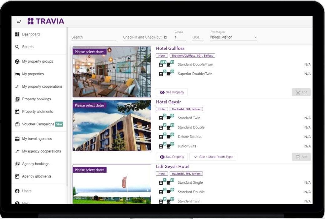 Property management system, der er meget udbredt i Island, er nu klar til at indtage det danske marked. Screenshot.