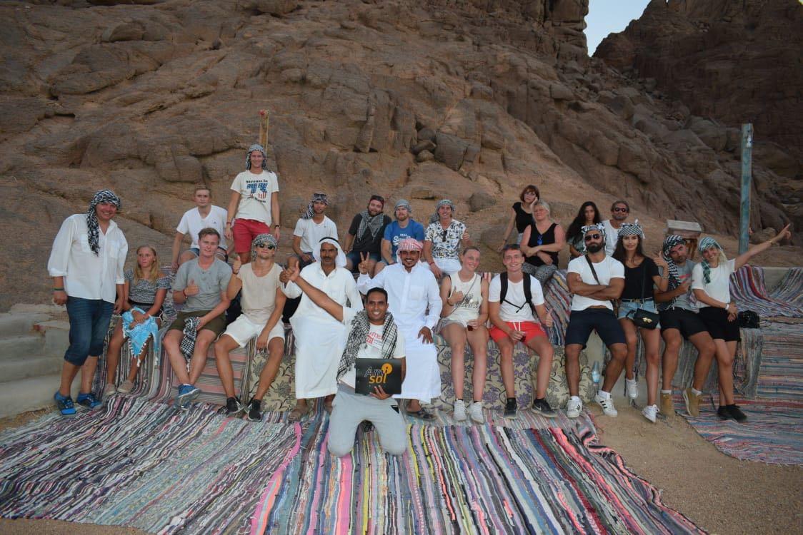 Gæster fra Amisol under ferierejse i Egypten, der under normale omstændigheder er rejsearrangørens primære destination. Arkivfoto fra Amisol Travel.