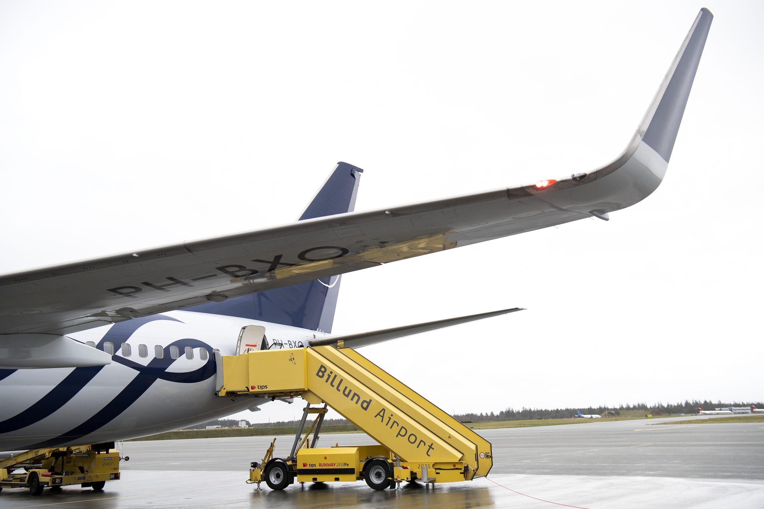 I forhold til sidste år er priserne på flybilletter indenfor Europa i snit faldet 32 procent fra Danmarks tre største lufthavne, Billund, København og Aalborg, viser nyt pristjek. Arkivpressefoto fra Billund Lufthavn.