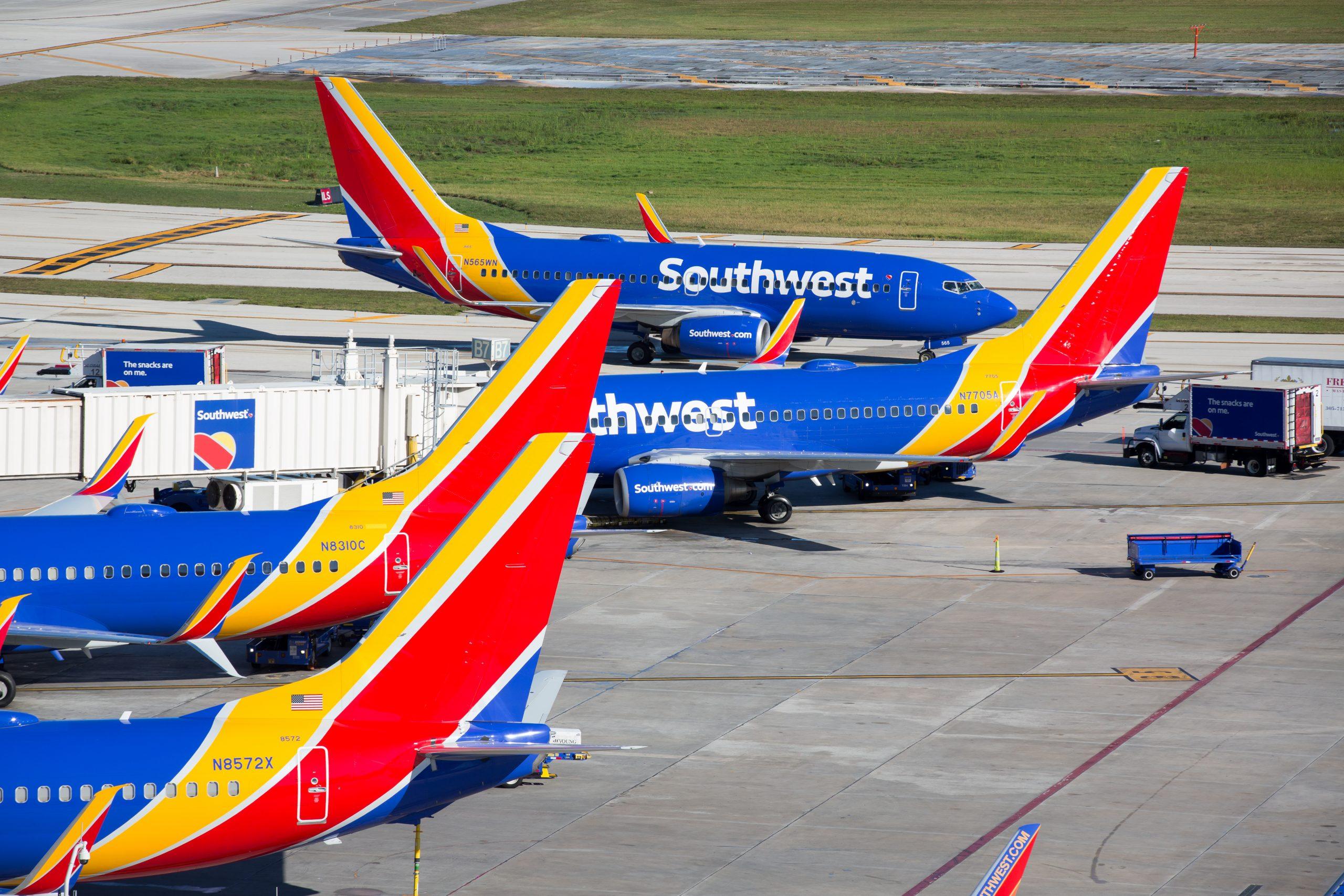 Southwest Airlines, der her er i Fort Lauderdale-lufthavnen i Florida, arbejder blandt andet for at øge sin tiltrækningskraft overfor erhvervsrejsende. Pressefoto: Stephen M. Keller for Southwest Airlines.