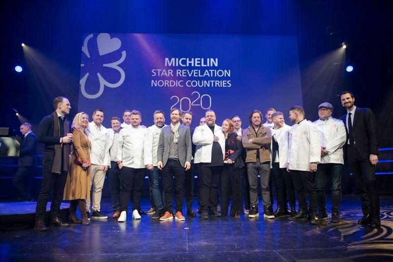 Stjernerne blev i februar sidste år uddelt ved et arrangement i Trondheim. (Foto: Michelin)
