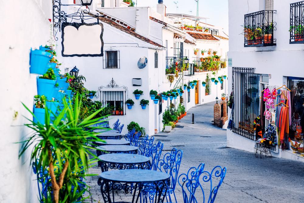 Spanien var igen sidste år danskernes foretrukne rejsemål i udlandet. Her er det fra Mijas ved Malaga. Arkivpressefoto fra Den Spanske Stats Turistbureau i Danmark.