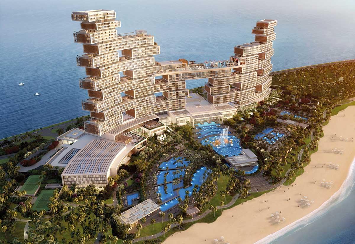 Det arkitektonisk særprægede Royal Atlantis Resort & Residences med 795 suiter og 231 værelser er et af Dubais nye hoteller. Resortet har intet mindre end 17 restauranter. Pressefoto via Dubai Tourism.
