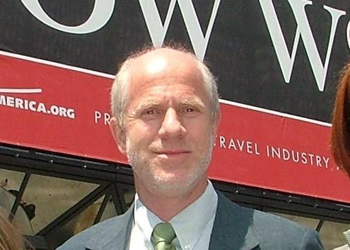 John Solové på en af sine hjemmebaner, New York, her er han til fagrejsemessen International Pow Wow tilbage i 2005. Arkivfoto: Henrik Baumgarten.
