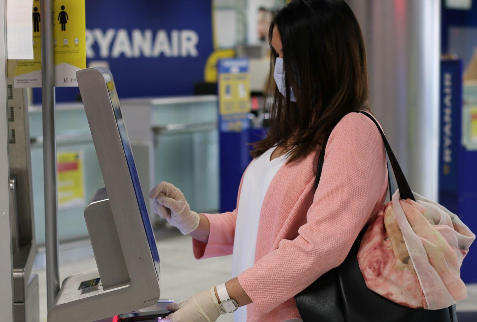 Ryanair afviser flybilletter og boardingkort udstedt af den tjekkiske søgemaskiner Kiwi.com. Arkivpressefoto fra Ryanair.