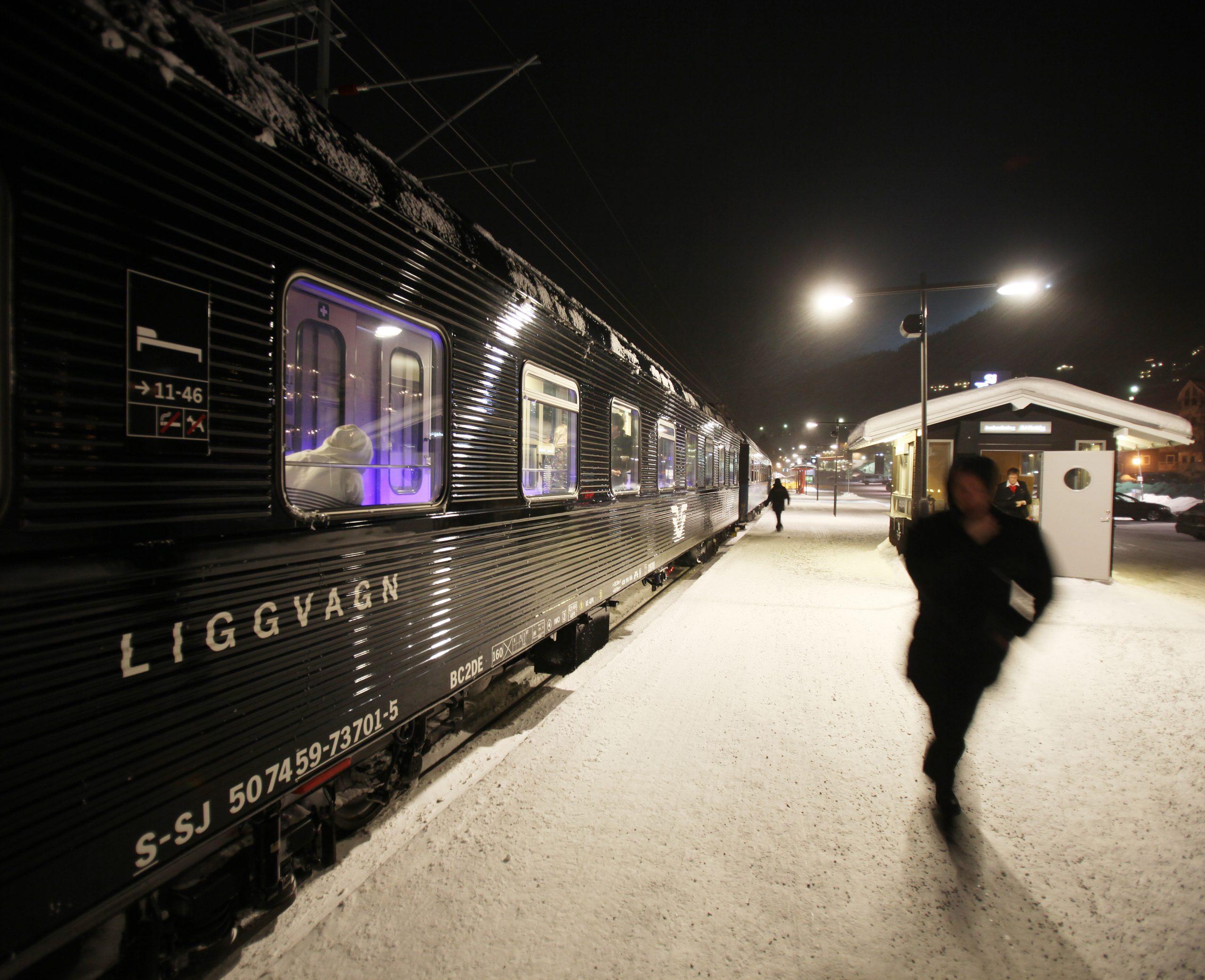 Nattog fra SJ. (Foto: Stefan Nilsson)
