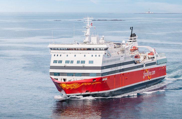 Norske Fjord Line sejler atter normalt på sine ruter, blandt andet mellem Norge og Danmark. Her er det færgen Oslofjord, pressefoto for Fjord Line: Jon Inge Nordnes.
