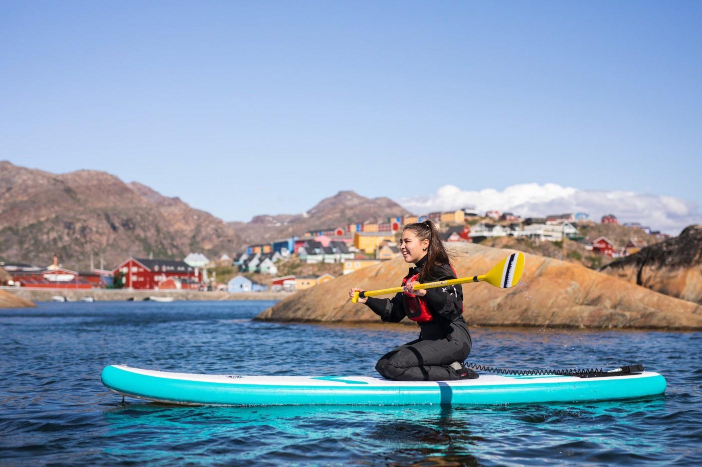 Visit Greenland er kommet på fin liste hos FN's Verdens Turistorganisation. Her er det fra fjorden ved Sisimiut. Pressefoto for Visit Greenland: Aningaaq R. Carlsen.