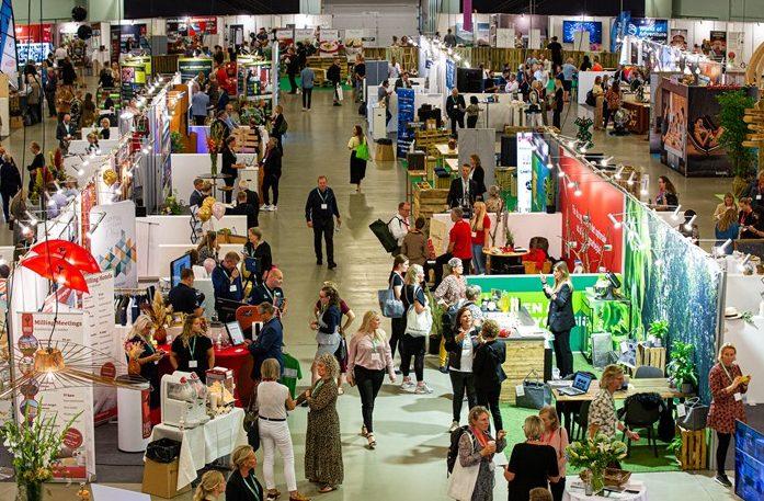 Et kig ud over årets Møde- og Eventmesse i Forum. Foto for Kursuslex: Vicki Madison.