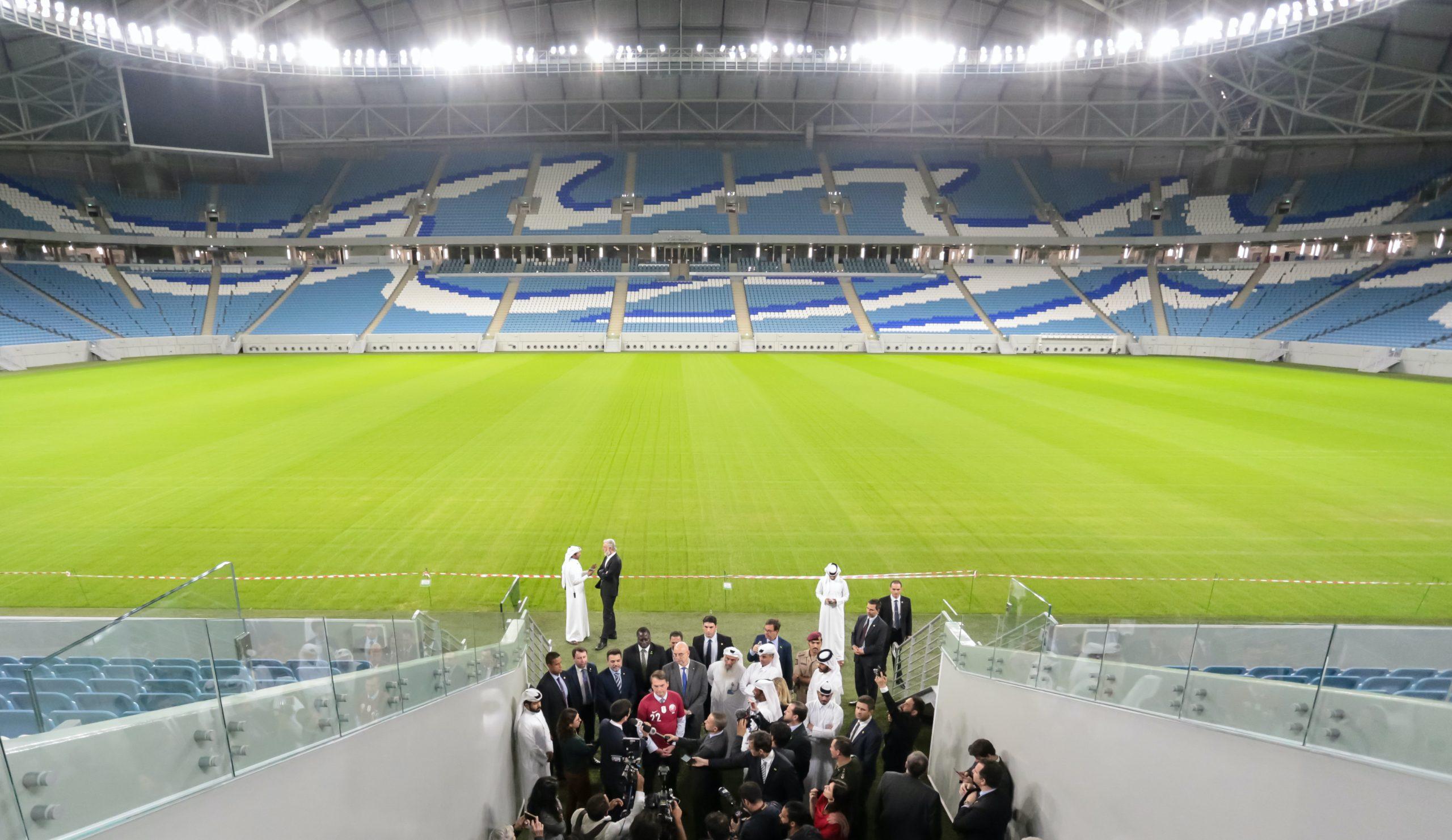 Al Janoub med plads til 40.000 tilskuere af et af de stadions, der skal huse kampe under næste års VM-slutrunde i fodbold. Wikipedia-foto: Valdenio Vieira/PR.Foto: Valdenio Vieira/PR