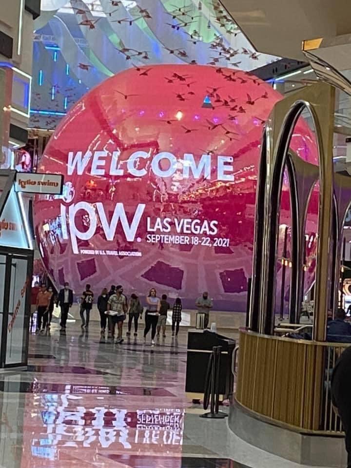 Indgangsområdet til det store konferencecenter i Las Vegas ved årets IPW. Privatfoto.